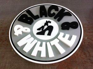שילוט אותיות בולטות black