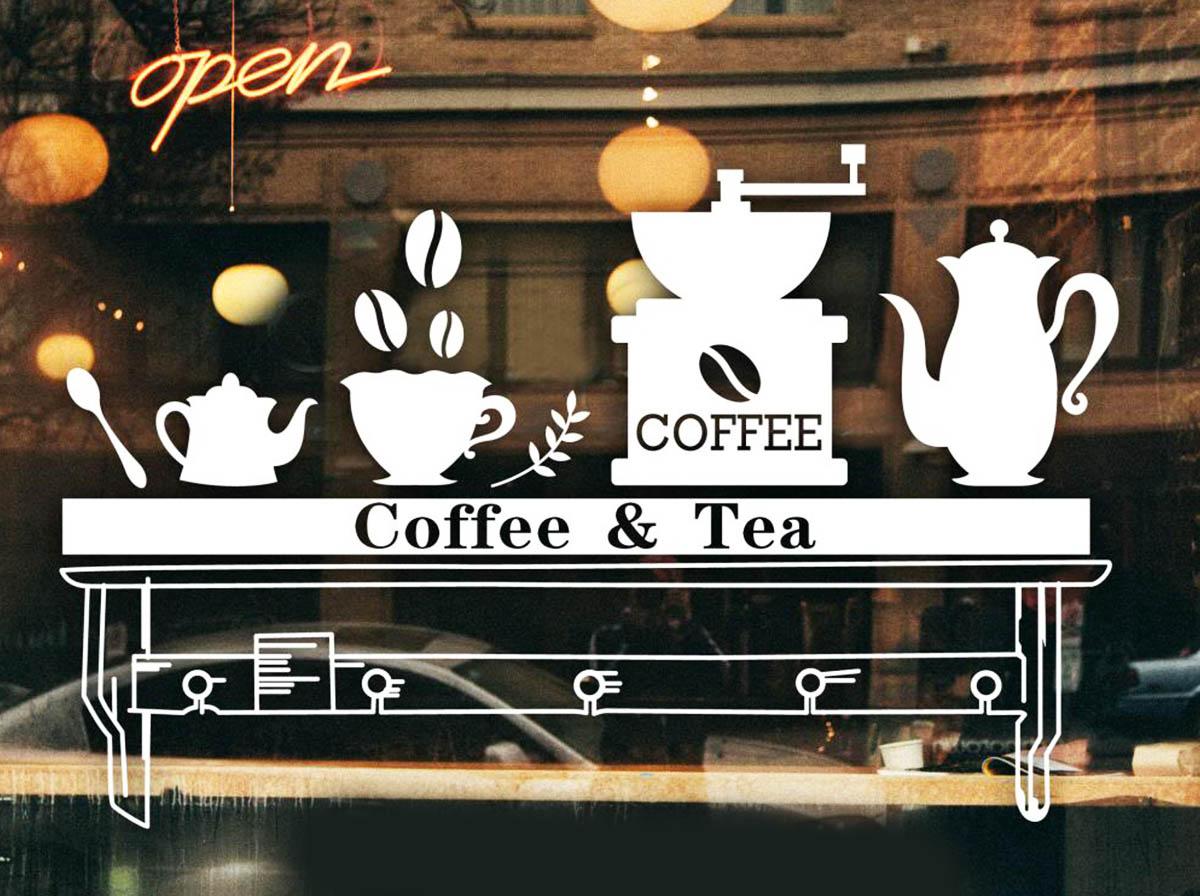 מדבקות לחלונות coffe